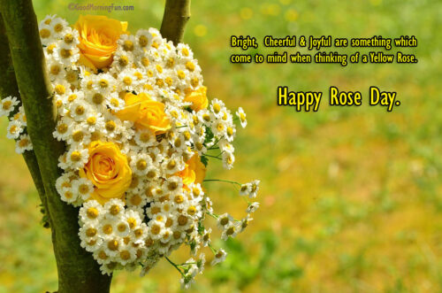 Happy Rose day Quotes - Yellow Roses