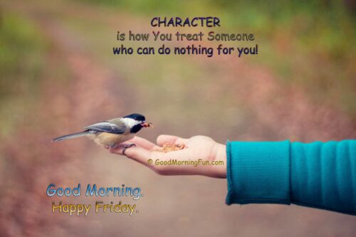 Inspirational Friday Quotes on Character