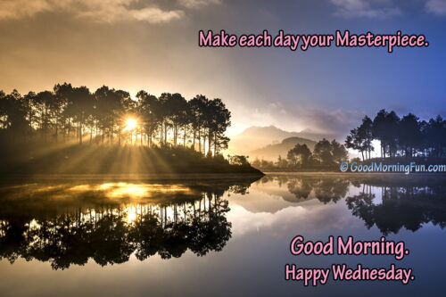 Inspirational Wednesday Quotes - Stunning Sunrise
