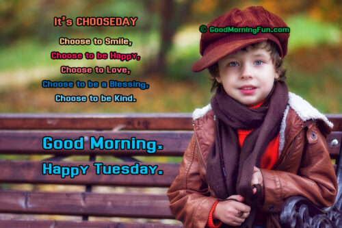 Its Choose Day - Happy Tuesday Quote
