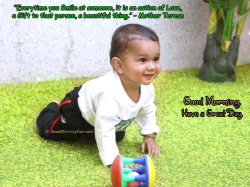 Mother Teresa Quote on Smile - Good Morning