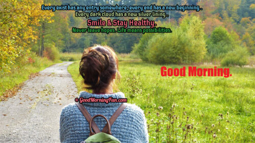 Smile and Stay Healthy - Good Morning Smile Quotes