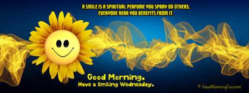 Wednesday Quotes on Smile - Banner