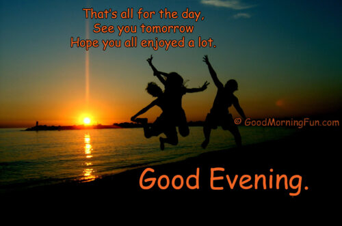 Best Funny Good Evening Wish For Friends
