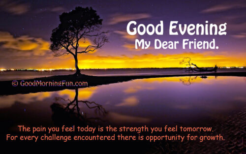 Best good evening inspirational quote for friends