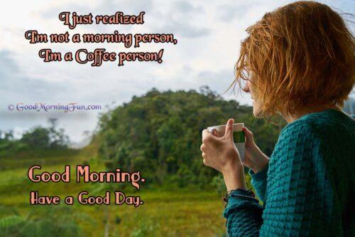 Coffee - People - Good Morning
