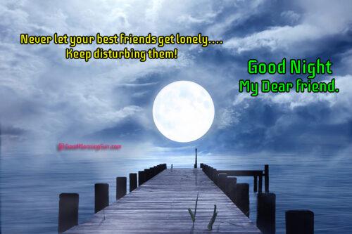 Cute Good Night Friends Wishes