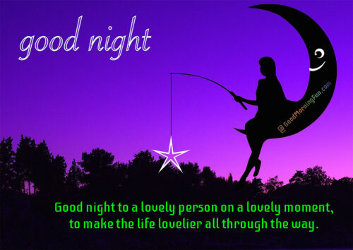 Cute lovely good night message