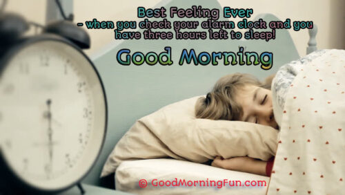Funny Best Feeling Ever At Morning
