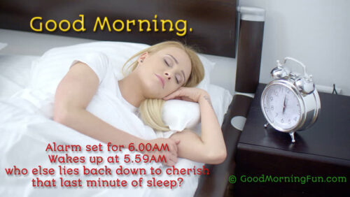 Funny Wakeup Last minute message