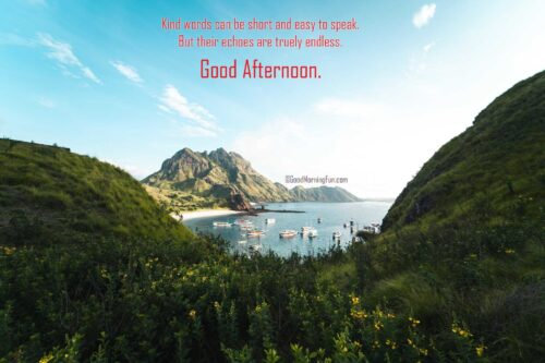 Good Afternoon Wishes - Kind words