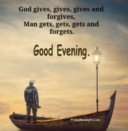 Good Evening Quotes on God