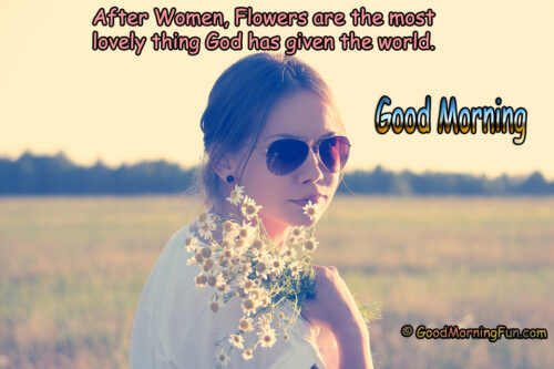 Good Morning Wishes for Women with Flower