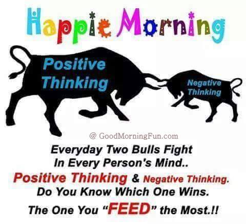 Good Morning   Be Positive quote
