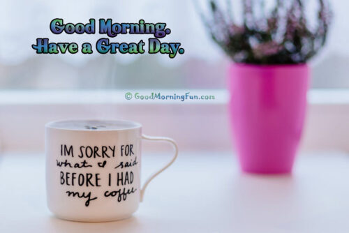 Good Morning Coffee Quotes Wallpapers