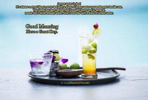 Good Morning Health tips - Drink Lemon Water