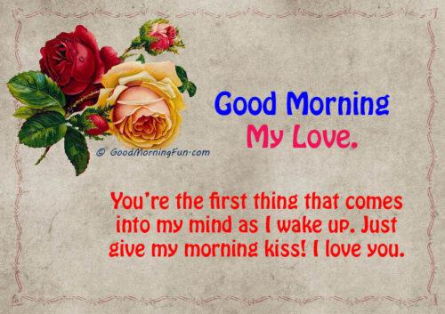 Good Morning Love Rose