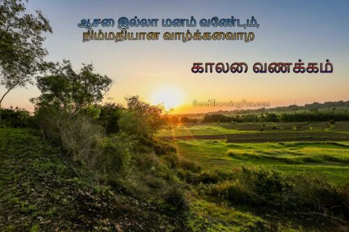 Good Morning Motivational Quotes Tamil