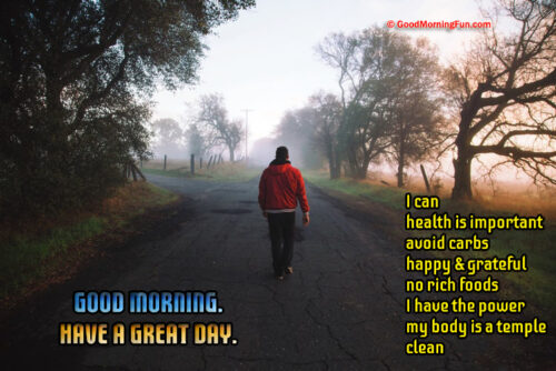 Good Morning Weight Loss Health Quotes