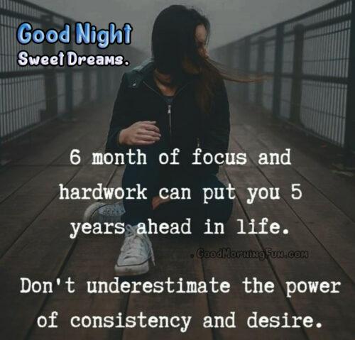 Good Night Motivational Quotes Status