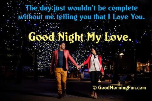 Good Night My Love Quote