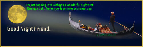 Good Night Wishes Images for Friends