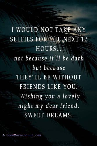 Good Night quotes for special friends like you
