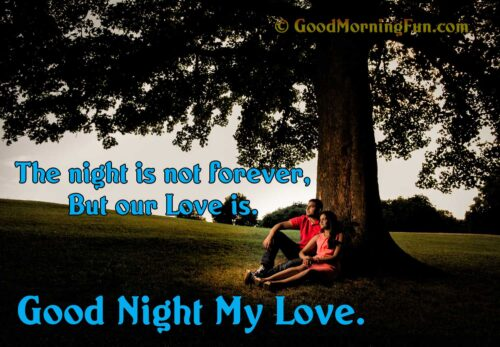 Good night my love - The night is not forever but our love is