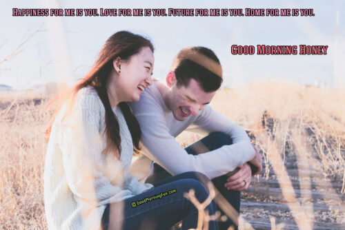 Happiness for me is you - Love quotes for her