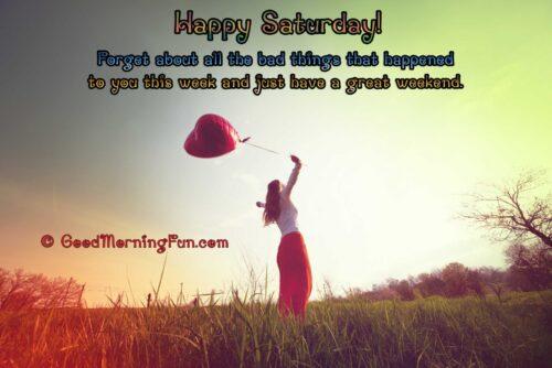 Happy girl - Happy Weekend Quote - Happy Saturday