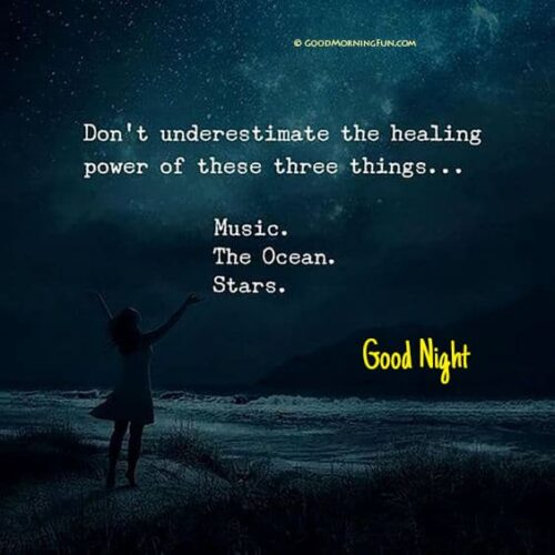 Healing power of Music, Ocean and Stars - Good Night