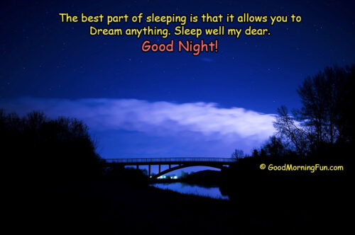 Inspirational Good Night Quotes about Dreams