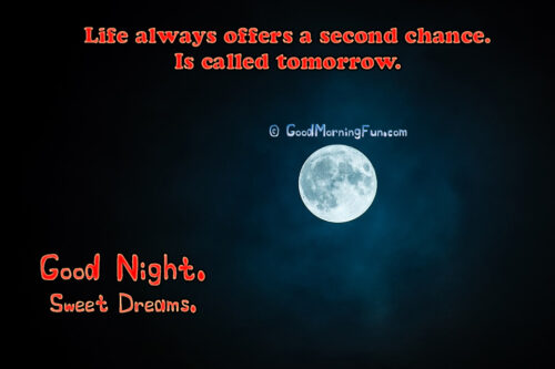 Inspirational Good Night Quotes about Life