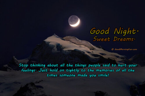 Inspirational Positive Good Night Quote