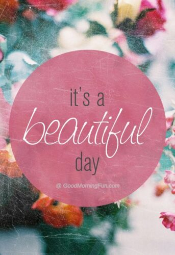 Its a beautiful day