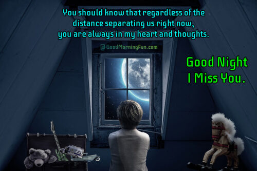 Missing you - Good Night Friends