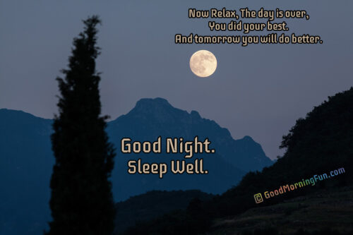 Relax - Sleep Well -Inspirational Good Night Quotes