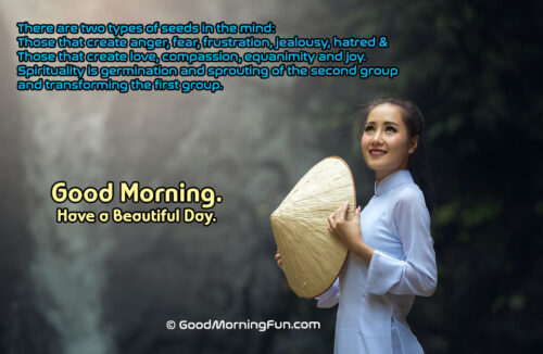 Spiritual Quote About Life - Good Morning