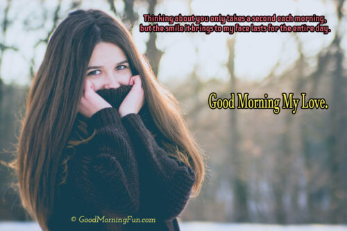 Thinking about you - Good Morning Love Images