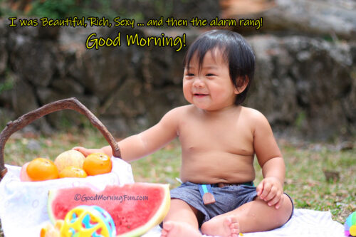Very Funny Good Morning Photos Kids