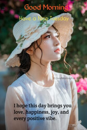 Tuesday Wishes for Girlfriend