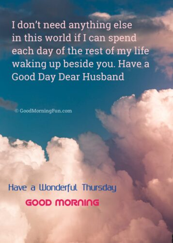 Good Morning Husband Quotes on Thursday