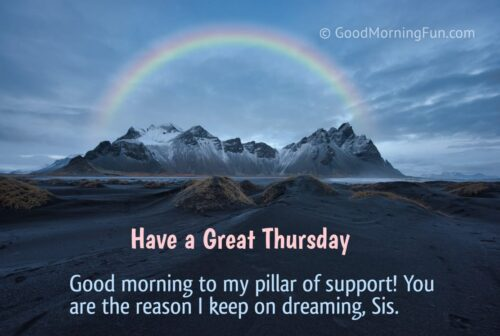 Good Morning Thursday Wishes for Sister