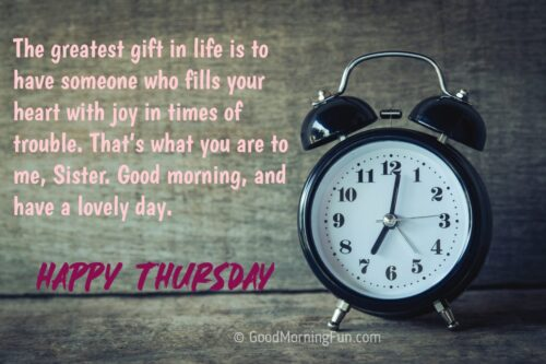 Happy Thursday Quotes for Sister