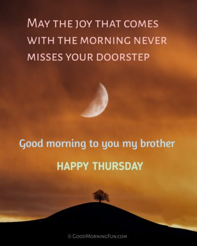 Happy Thursday Wishes for Brother