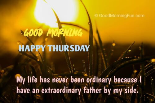 Happy Thursday Wishes for Father
