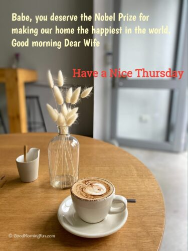 Nice Thursday Quotes for Wife
