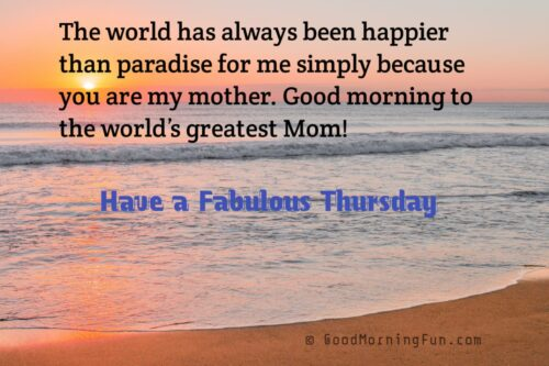 Thursday Inspirational Quotes for Mother