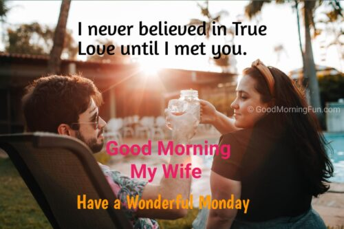 Happy Monday Wishes for Wife
