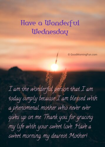 Wednesday Inspirational Quotes for Mother